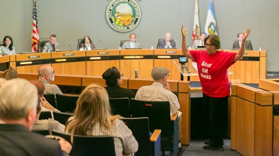 Liz Barrera at Anaheim City Council