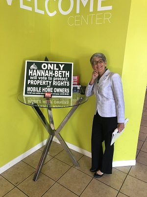 Hannah-Beth Jackson with Sign